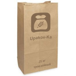 Бумажный мешок 25 кг трехслойный